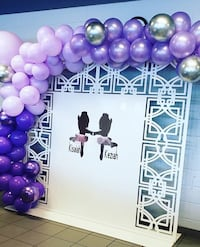 Balloon garland and backdrop