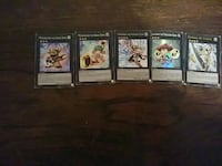 Five assorted yugioh trading cards Dallas, 75217