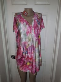 Simply Aster ladies size US Xl floral pintucks buttons Ottawa