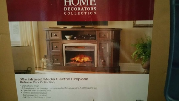 Used Home Decorators Collection Infrared Media Electric Fireplace
