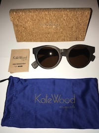 Brand New KATE WOOD Sunglasses w/ case and sleeve  Vancouver, V6M 1P8