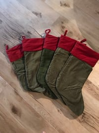 Red and Green Pottery Barn Christmas Stockings Parrish, 34219