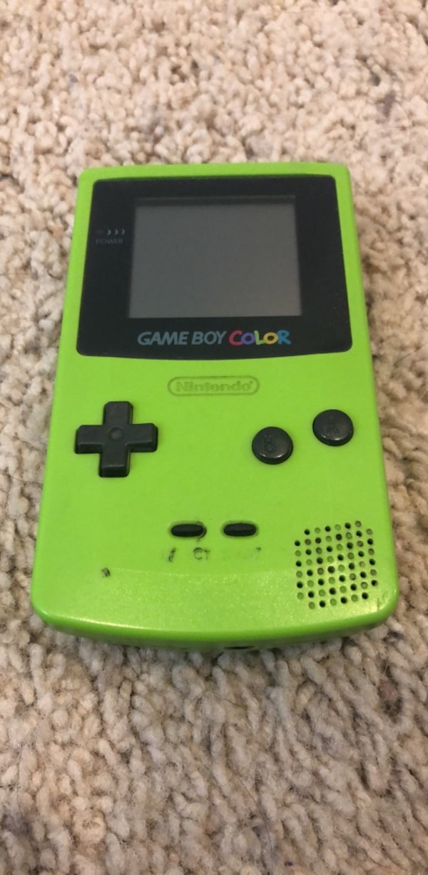 Green Gameboy Color With Pokemon Yellow bf01caab-0c26-4691-8c84-1668c68e097d