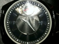round silver-colored chronograph watch with link b Tucson, 85748