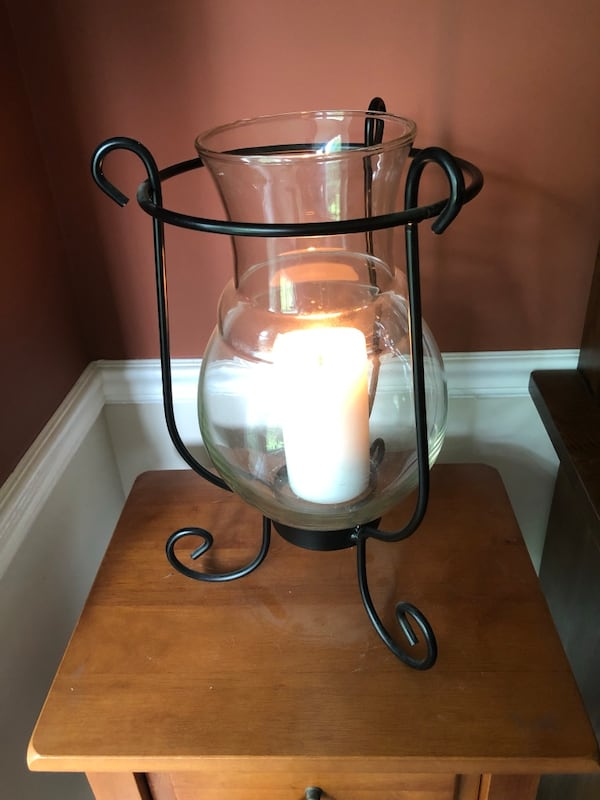 Larger Centerpiece Candle Holder  / Metal and Glass Vase Insert ac4f30aa-5a27-4a86-b474-ae0c51efe6e8