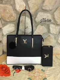 Tote bag Michael Kors in pelle nera Roma, 00132