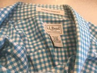 Short sleeve shirt L. L. BEAN 100% Cotton Size XL