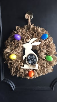 Hippity Hop Easter is almost here, get your 14 inch Easter wreath while supplies last, pickup only, handmade Hamilton, L8E 3W5