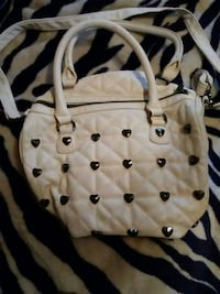 Large Betsy Johnson quilted white purse with metal Bon Secour, 36511