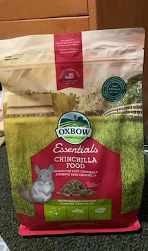 New oxbow chinchilla food