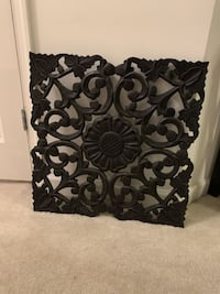 Carved Wood Wall Decor (Black)
