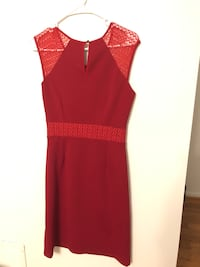women's red sleeveless dress Clifton, 20124