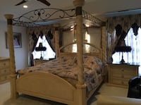 King size bedroom set with 2 night stands, dresser, mirror,2 wardrobe Potomac