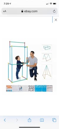 Antsy Pants Build and Play 68 PC Small Kit 39 Poles 29 Connectors