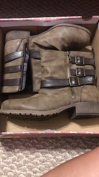 brown buckle ankle boots Thomasville, 27360