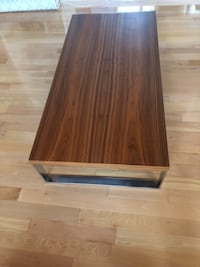 rectangular brown wooden coffee table Toronto, M6J 2V2