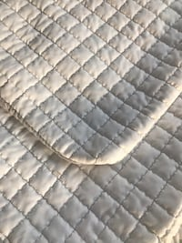 Quilted white and grey Euro sized pillow covers & cases- brand new!