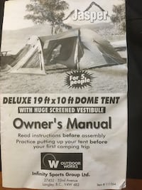 Jasper 19' by 10' Dome Tent
