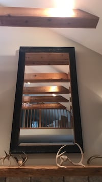 Gorgeous wood frame mirror