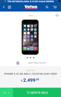 iPhone 6 32  Sincan, 06940