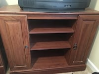 brown wooden TV stand with shelf Augusta, 30815