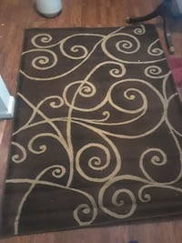 black and white floral area rug