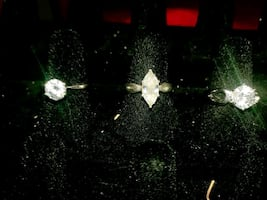 Sterling silver engagement/promise rings