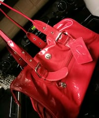 Lulu Duffle Bag Purse (some handle damage)  Red Deer