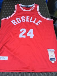 red and white roselle 24 basketball jersey Ashburn