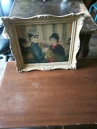 Antique painting oil paint