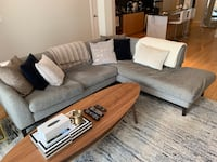 Grey modern sectional couch Toronto, M5R 3E9