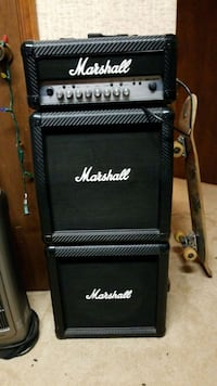 black Marshall guitar amplifier with amplifier Poolesville, 20837