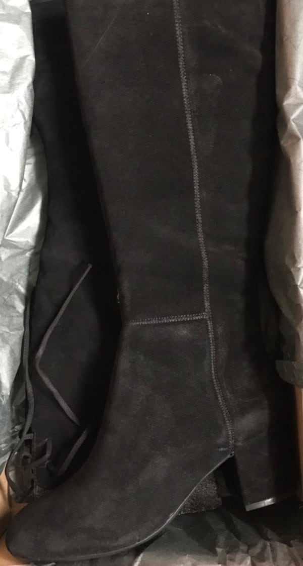 Black Suede Boots (new, in box) 1