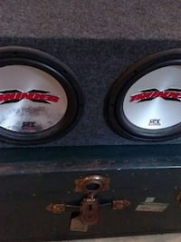 """$100two 10"""" subwoofers with box South Riding, 20152"""