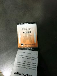 4 tickets for 10 dollars Calgary, T2T 4T5