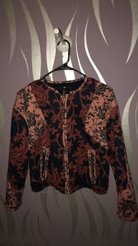 Women's red and black floral long sleeve dress New York, 10452