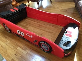 Twin Bed Frame Race Car