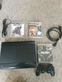 PlayStation with 3 games and controller for all 45$