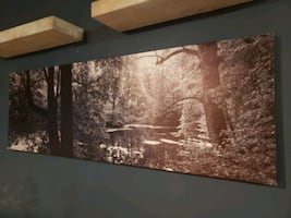 Large forest canvas