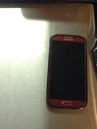 Black samsung android smartphone with red case Langley, V2Y 1V4