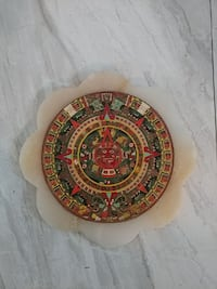 Aztec calendar made from marble