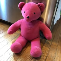 North American Vtg Bear Company Large Teddy Bear Plush Pink Haverhill, 01832