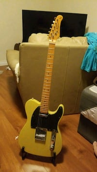 black and yellow electric guitar Burnaby