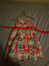 white and red floral spaghetti strap dress Toronto, M1T 1G7