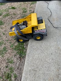 Tonka truck with tie down straps