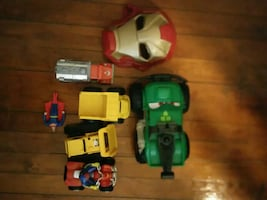 Assorted-color vehicle toys