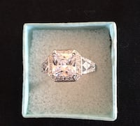 LUXURY CLEAR PRINCESS CUT AAAAA CZ IN WHITE GOLD FILLED, SZ 9 Sparks, 89441