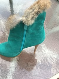pair of teal suede booties Manassas, 20112