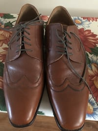 pair of brown leather dress shoes Toronto, M9L 2L2