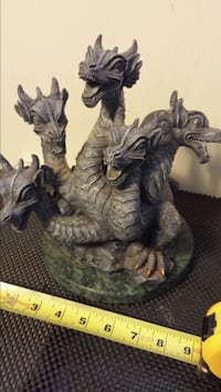 Ceramic dragon on marble stand Surrey, V3T 5T5